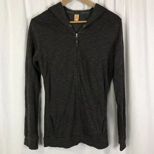 Lucy hooded brown top